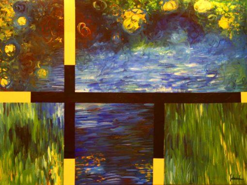 Mondrian meets Monet
